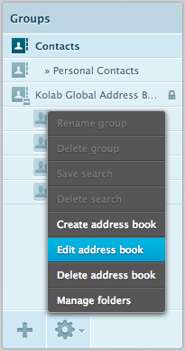 sharing address books kolab groupware documentation
