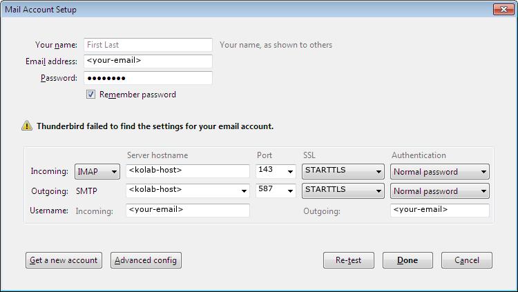 Mozilla Thunderbird — Kolab Groupware documentation